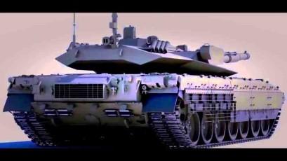 Armata (T-14): suposta visão traseira. Arte 3D Maxres.