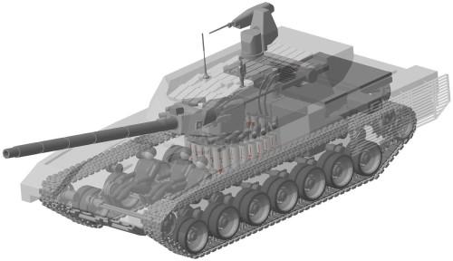 Disposição interna do T-14 Armata.